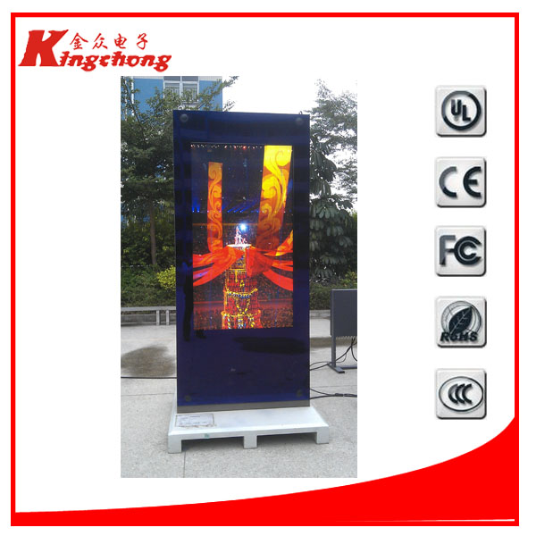 2000nits beightness outdoor lcd screen marketing advertising full color digital signage metal kiosk outdoor lcd display