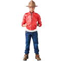 High quality Custom display Life size Plastic action figure toys with fabric cloths