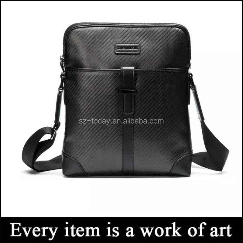 (Td-Cb4)Wholesale Carbon Fiber High-Grade Black Customized Shoulder Bags