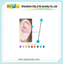 plastic industrial pierce earring for ear