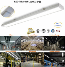 Waterproof led linear light 1200mm IP65 lamp Tri-proof Lamp Parking Sensor Light,2016 New Products,Clear Tri-Proof
