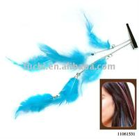 Synthetic Feather Hair Clips