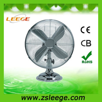 "keep cool Pass CE 12"" antique metal table fan"