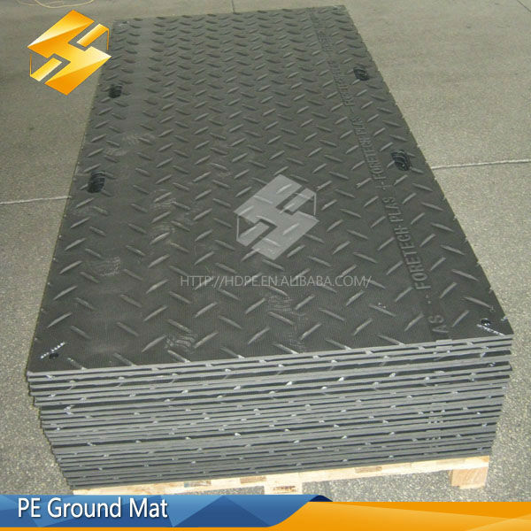 HDPE track mats/temporary floor protection