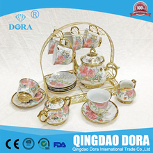 Chanzhou factory silver and gold plated ceramic turkish tea set,silver plated coffee set tea set,antique coffee and tea sets