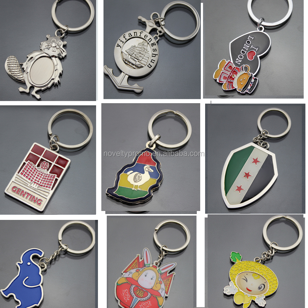 2015 Personalized Custom Shape Blank Metal Keychain