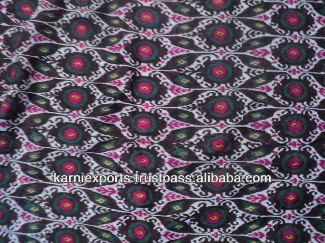 printed polyspun cotton polyester mix fabrics diamond print 100 polyester thin fabrics for garments & pareos scarves & bags