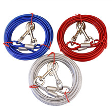Steel wire Double Coupler Dog Leash Dual No-Tangle Pet Bungee Leads For 2 Dogs Anti-bite Top Quality For Walking Dogs Training