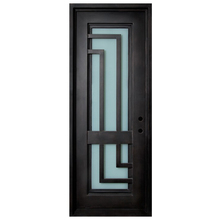 Latest design cheap wrought iron interior glass door for bedroom