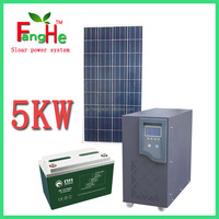 5KW complete off grid solar power system for home application(lights, TV, fans, computer, air conditioner, refrigerator)