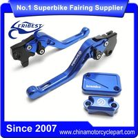 FYAYR022BL Motorcycle Clutch Brake Lever Short With Reservoir And Cap Blue Kit For R125 2012-2015