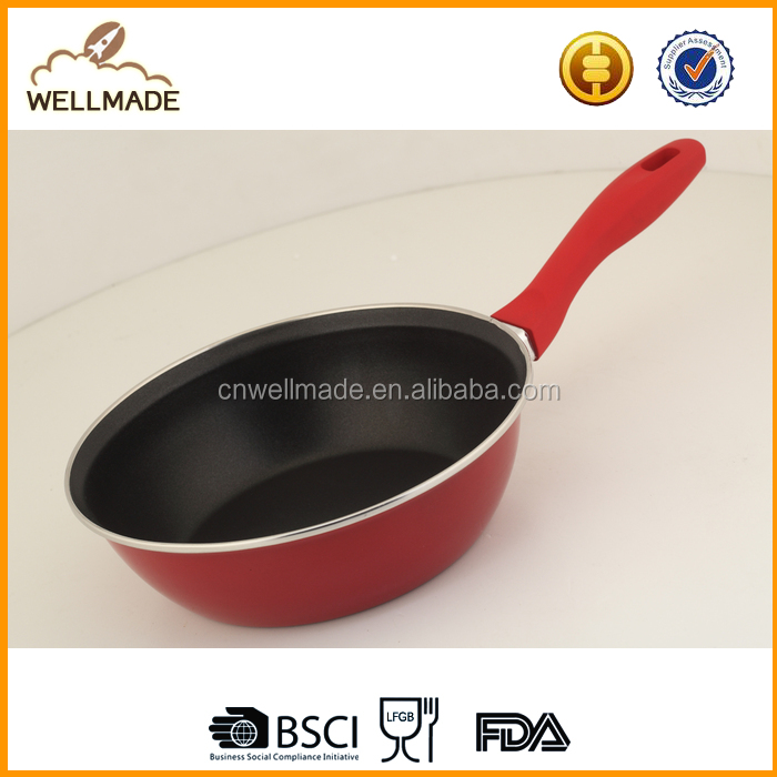 Thicker Base Carbon steel Provides Even Heat Distribution Enamel Non-stick deep Fry Pan