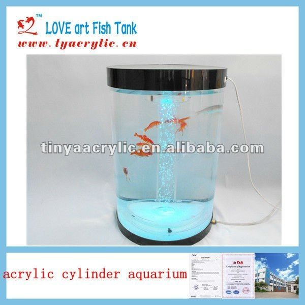 Clear colofrul acrylic aquarium led lighting with Stand, Lid, Led Light and Wet/Dry Filter