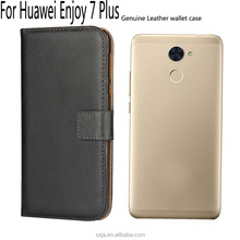 Custom design Card Slot PU Leather Wallet Flip Cover For Huawei Enjoy 7 Plus Magnetic holster case for Huawei Enjoy 7 Plus