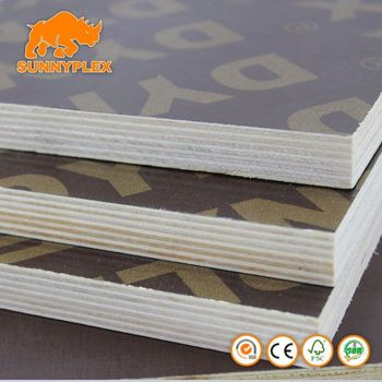 15mm x 1220 2440 black film faced plywood SUNNYPLEX