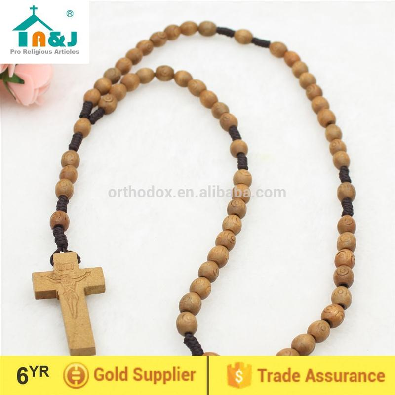 Over 6 years Alibaba Gold Supplier carved wooden bead rosary New Design