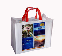wholesale reusable recyclable tote beach grocery shopping take away CMYK gravure printing pp laminated eco woven bag
