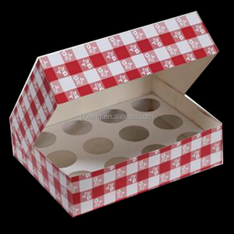 2014 paper cupcake boxes with insert from Guangzhou