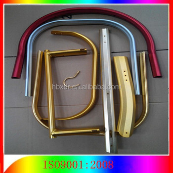 Colored anodized bent aluminum tubing