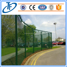 Loading Security Fence,High Security Fence With Barbed Wire Top,358 Security Fence Prison Mesh,