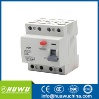 4P RCCB 25A 40A 63A rccb 2p 40a 30ma 2 pole earth leakage circuit breaker