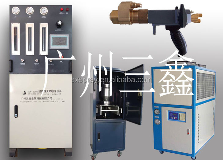 Thermal spray coating machine, hvof thermal spray coating machine