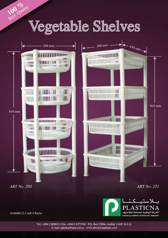 Round & Rectangle Vegetable shelves with 4 Racks