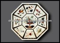 The Golden Handmade Marble Inlay Table Top ,Cheap Marble Waterjet Medallion Tiles Marble Pattern
