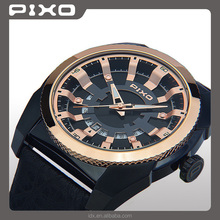 PX-15 OEM and ODM high quality elegance fashion black rosegold sport designer wrist watch men stainless steel watch for unisex