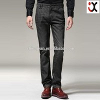 2015 hot sale slim fit full black smart men jeans JX20042