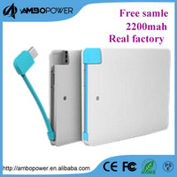 power bank credit card size micro usb battery charger