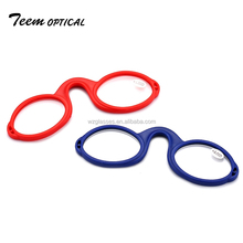 Easy to carry nose reading clip glasses customize nose eyeglasses for reading