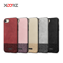 2017 Fashion Splicing Elegant PU Leather Back Cover Case for iPhone 7 7 Plus