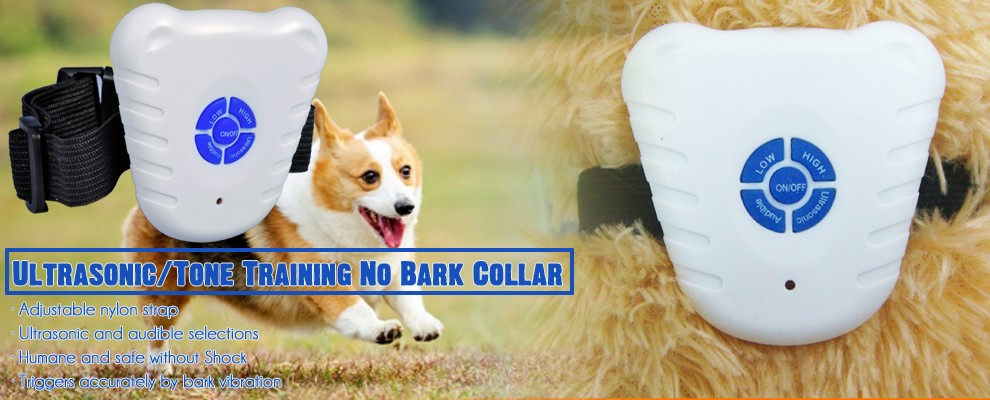 2016 Voice Activated Ultrasonic Pet Dog Bark Control, Electric Anti Dog Barks Sensor Collar OEM