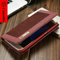 Fashion new phone accessory wallet Retro leather mobile phone cases for samsung galaxy s7