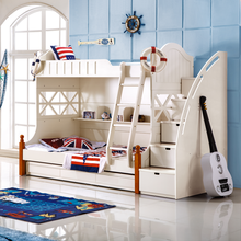 Bunk bed new design cheap double bed modern Children bedroom furniture OEM