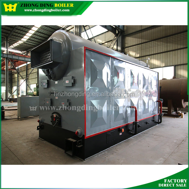 DZL Series Sunflower seed husk biomass pellet small wood fired steam boiler