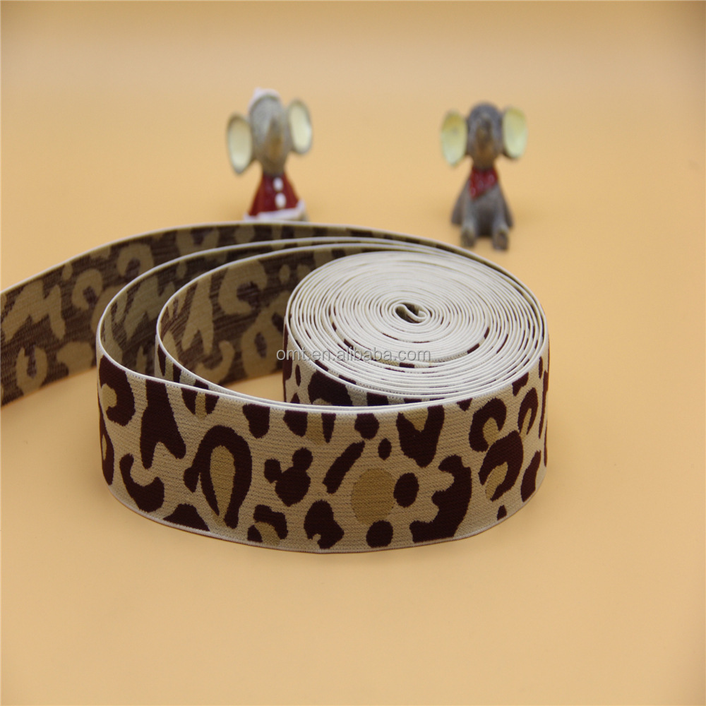 manufactures custom-made leopard print jacquard elastic band