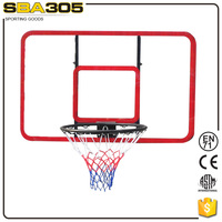 official basketball backboard and rim size