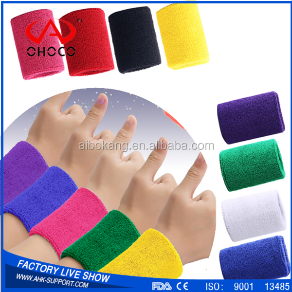 2017 new products sports cotton wrist band bowling wrist support