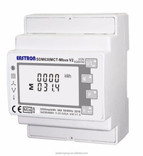 MID Approved 3 phase 4 wire kwh Energy Meter with CT and RS485 Modbus , for solar bi-directial measurement