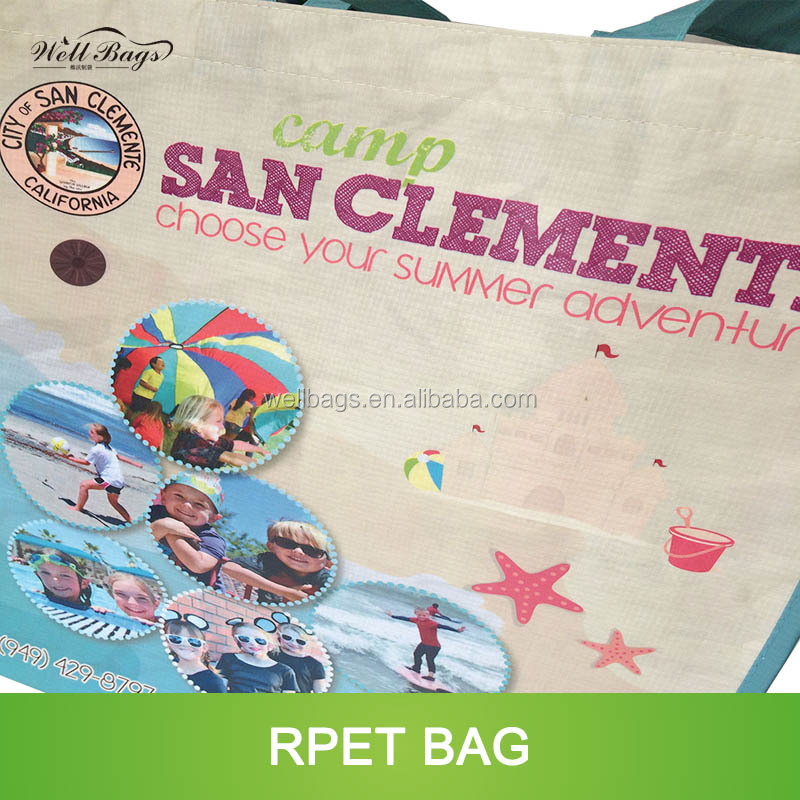 customized recycle RPET shopping reusable matte laminated tote bag alibaba trade assurance
