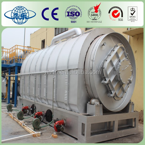 Yongle Huayin waste tire recycling pyrolysis to diesel oil