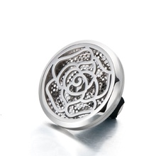 In stock 316L stainless steel magnetic round air freshener locket aromatherapy diffuser car