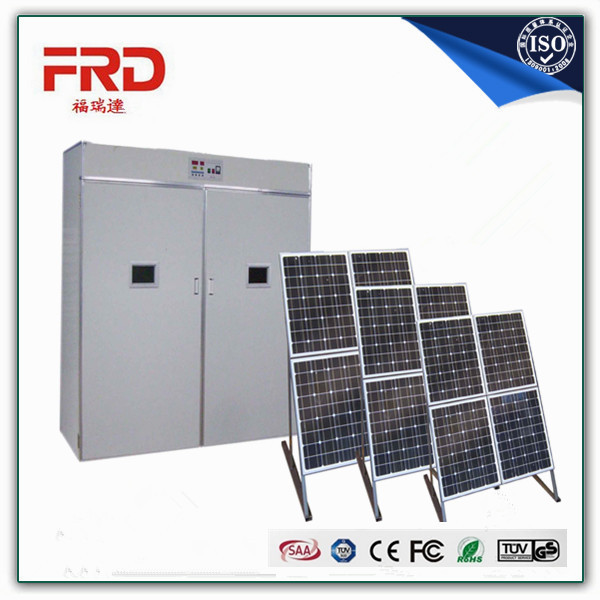 FRD-5280 100% trade assurance payment guarantee double control solar egg incubator with high quality poultry egg incubator/chick