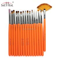 16 pcs New Acrylic 3D Painting Drawing UV Gel DIY Brush Pen Tool Nail Art Set