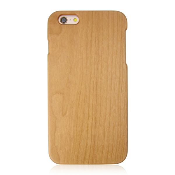 Single bottom wood case mobile phone case beauty phone solid cover for iPhone 6
