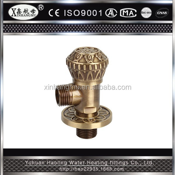 Brass Water Valve Faucet Accessories Antique Copper Angle Valve