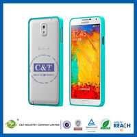 C&T Latest aluminum bumper case for samsung galaxy note 3