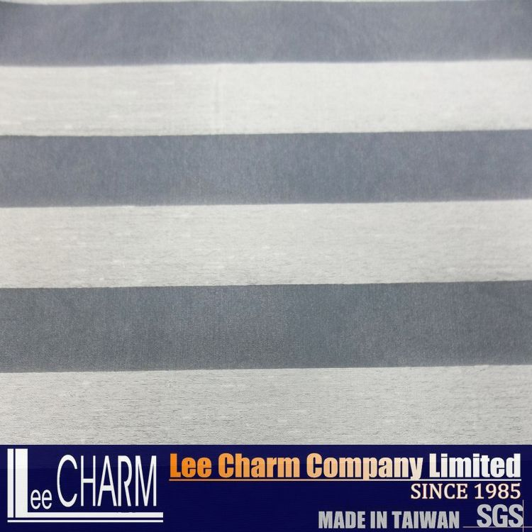 Polyester White Organza Striped Fabrics For Wedding Dress